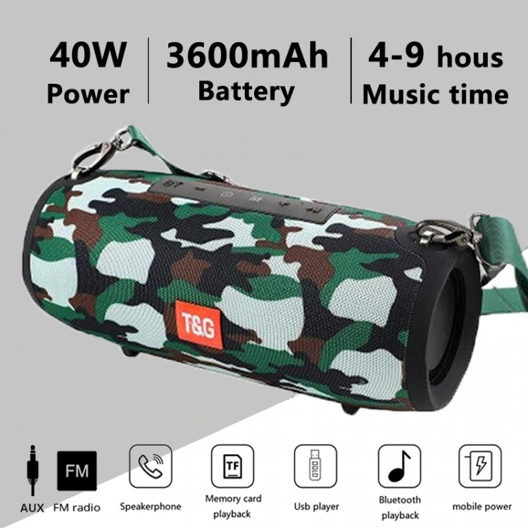 Портативная Колонка Air Music Boombox + Power Bank 4 camouflage