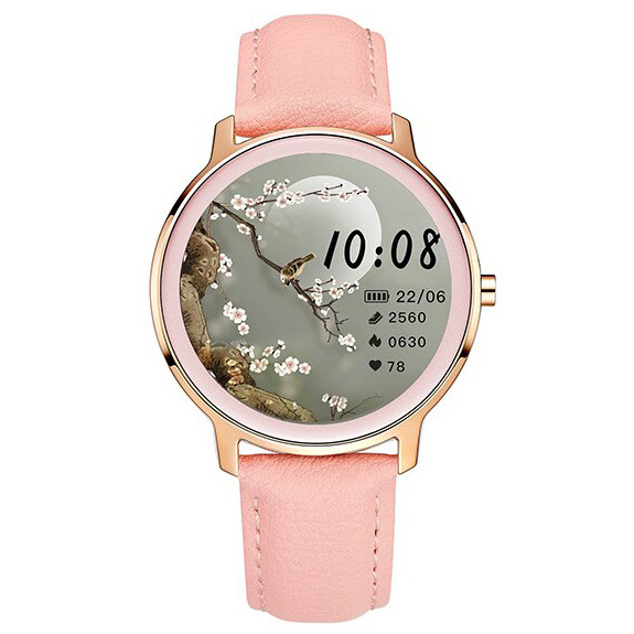 Смарт-часы Smart Watch 72 pink leather